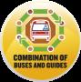 combinacion buses y guias