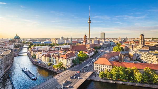 Vista Aérea de Berlín, Alemania.