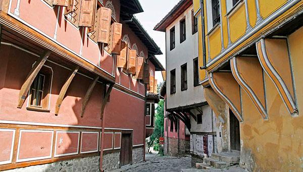 Plovdiv: Vista interior con sus calles.