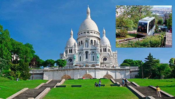 París: Subida en funicular al Sagrado Corazón y cena incluidos.