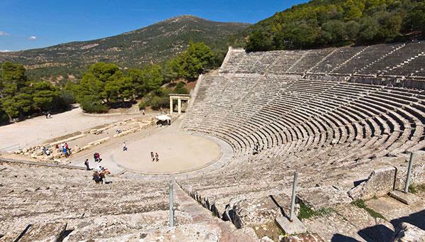Epidauro: El teatro.