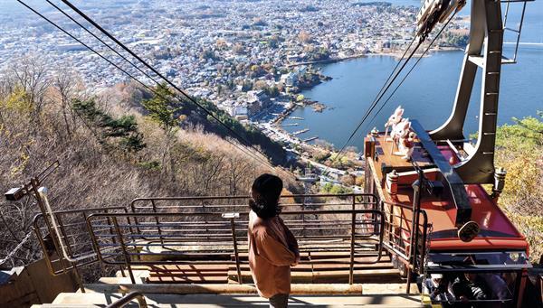 Kawagushiko:Vistas espectaculares desde la montaña Kachikachi