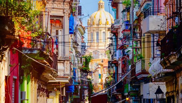 Calles coloridas de La Habana Vieja, Cuba