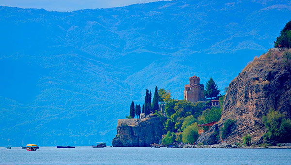 Ohrid: La ciudad es rica en casas pintorescas y monumentos.