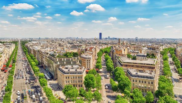 Hermosa vista panorámica de Paris.