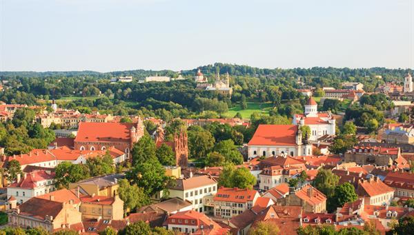 Vista de la ciudad de Vilnius desde el castillo de Gedimias