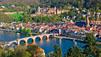 Heidelberg: Panorámica con su castillo.