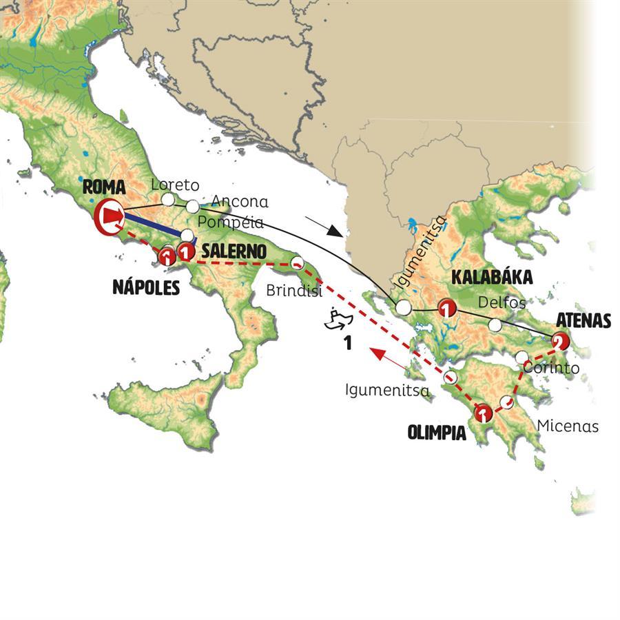 e3f83ab20 Grecia e Sul da Italia com Sorrento CLASSICA 20192020