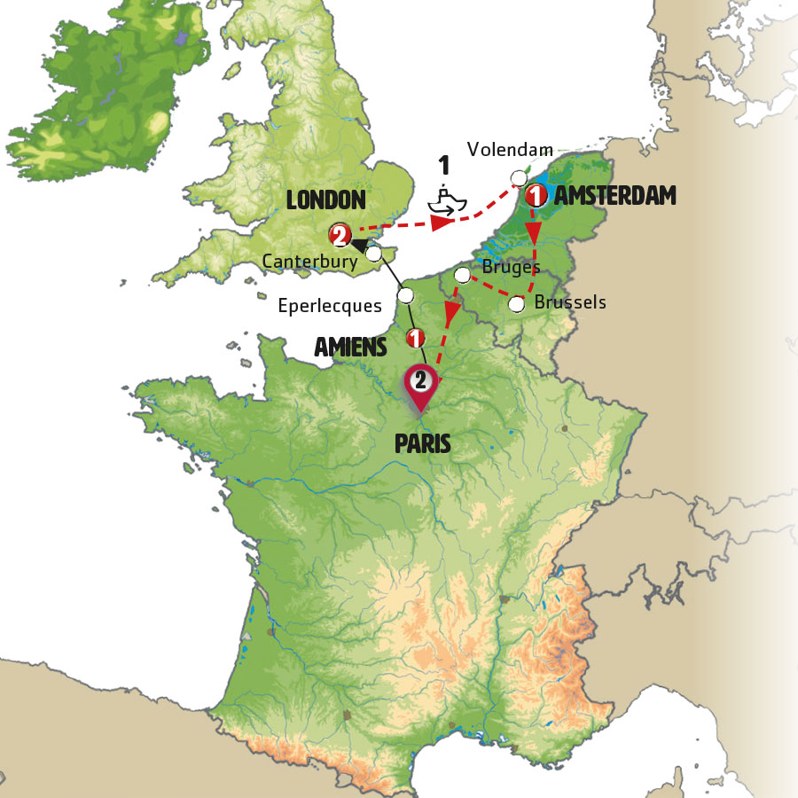 Circuito W Mapa : European triangle europamundo vacations